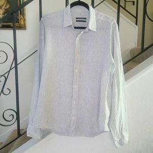 CLUB MONACO 100% Linen Button Up Shirt Size M.